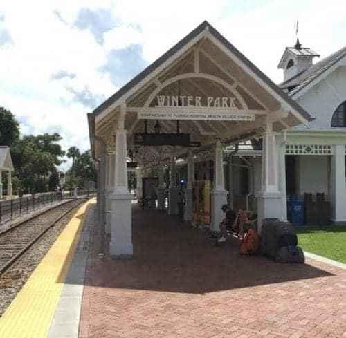 Amtrak station in Winter Park Florida