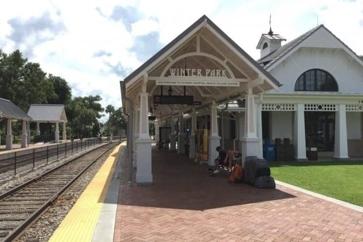 From the Amtrak station in Winter Park, Florida it's a one-hour drive to either Port Canaveral or Tampa. Take Amtrak to cruise ports in Florida.