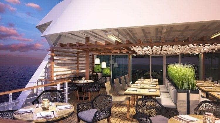 The cozy, outdoor Pan Asian restaurant.