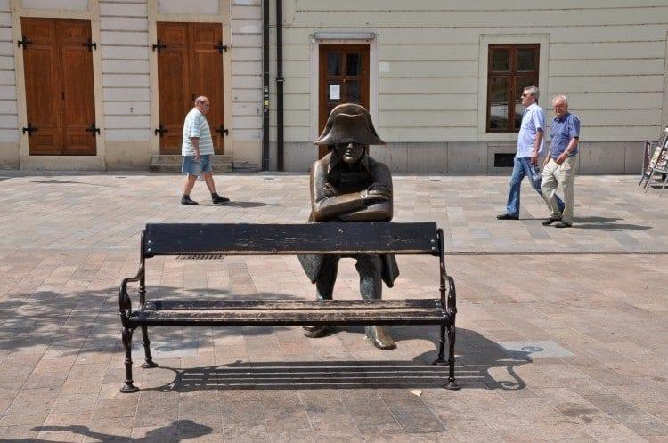 Downtown Bratislava Napoleon's Army Brass Soldier