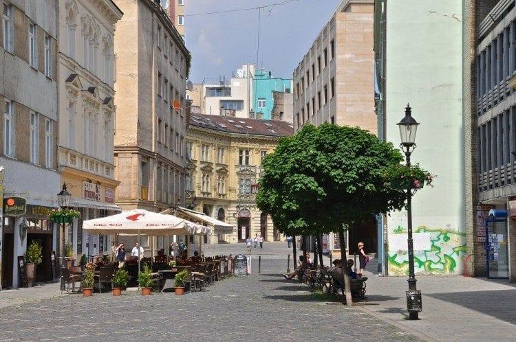 Cafe in Bratislava city centen
