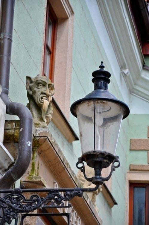Bratislava Gargoyle and lampost