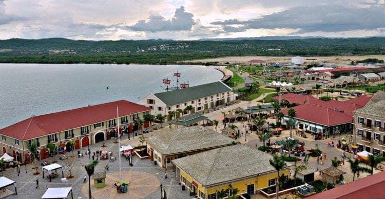 The rebuilt port at Falmouth, Jamaica, courtesy of Royal Caribbean.