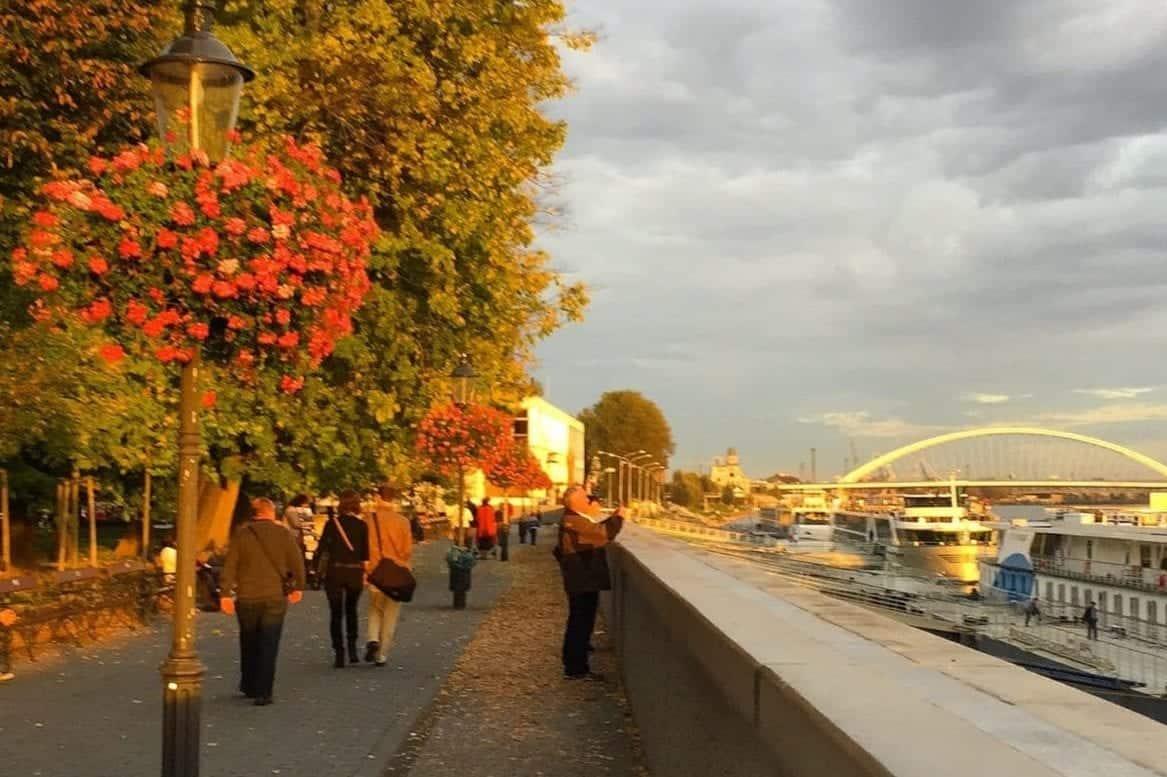 Bratislava Danube river promenade