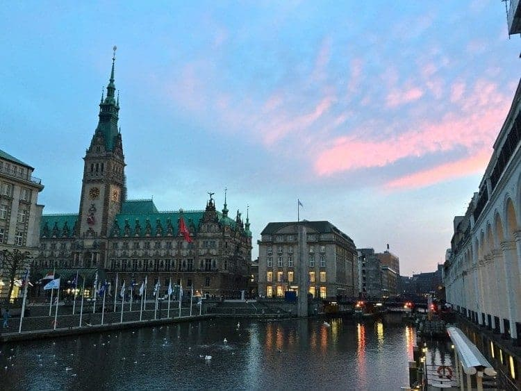 Park Hyatt in Hamburg Germany on the Elbe river