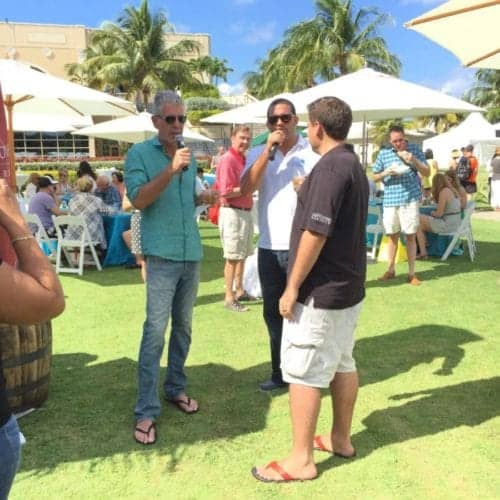 Anthony Bourdain at the annual Cayman Cookout Event.