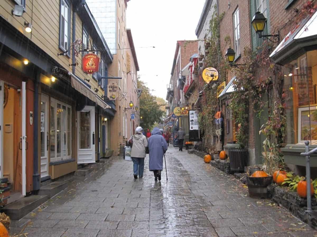 Walking through Lower Quebec City on a Canada New England cruise