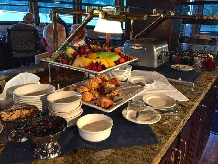 Early Riser Breakfast on Un-Cruise Adventures SS Legacy