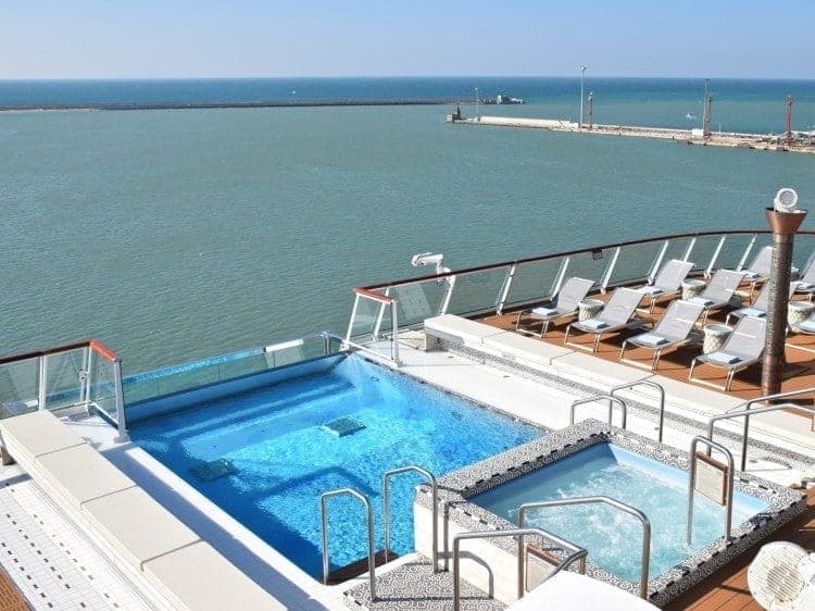 Viking Star Infinity Pool. There's another pool midship with a retractable dome.