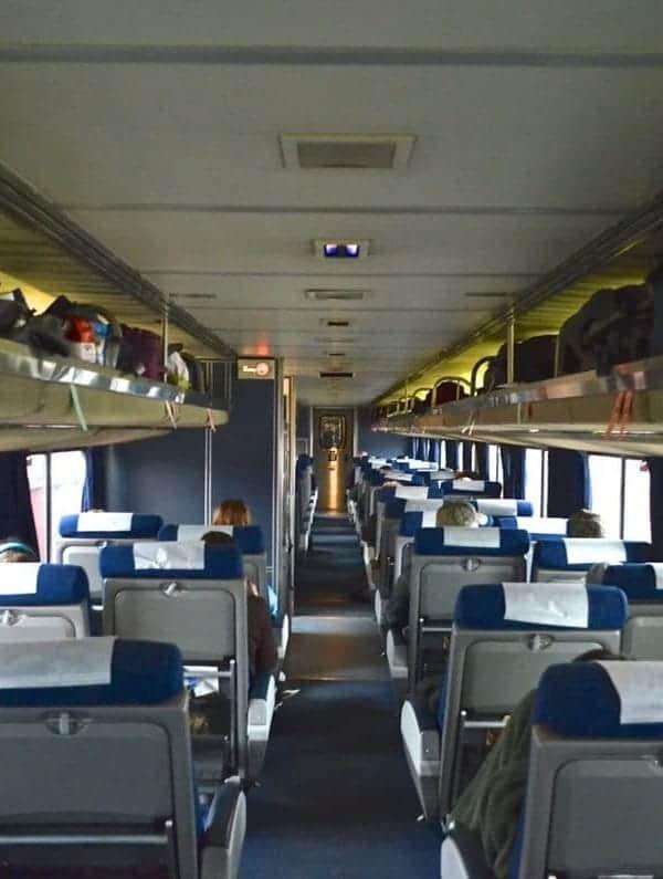Typical Amtrak coach car.