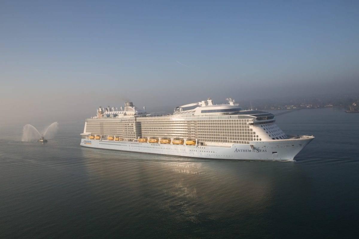 Anthem of the Seas Cruises Through a Rough Night at Sea