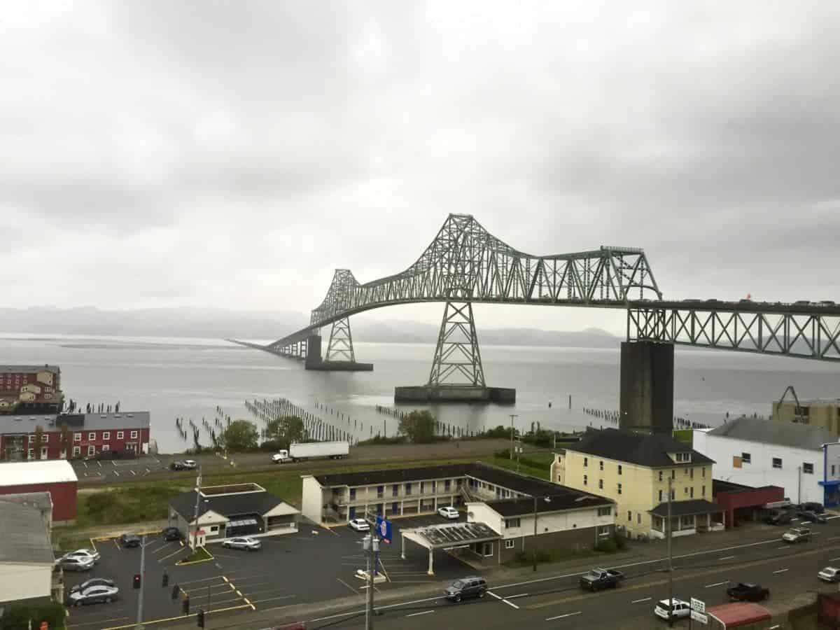 Astoria Megler Bridge from the Astoria side of the Columbia River