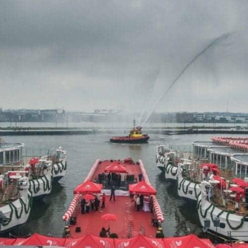 Viking River christens six new Viking Longships in Amsterdam.