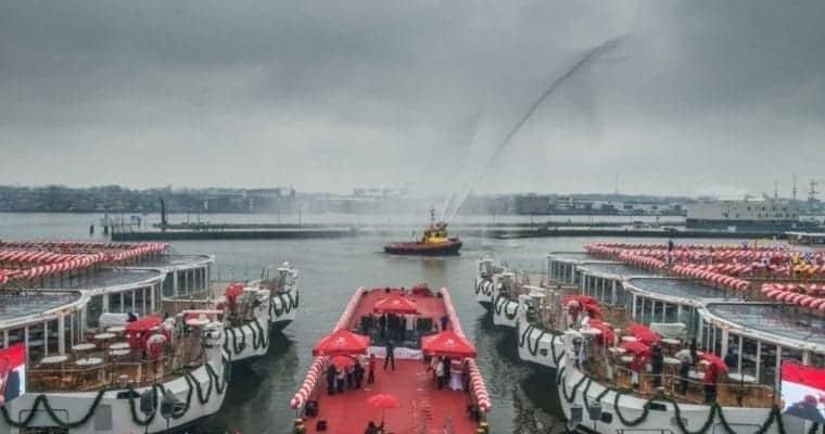 Six New Viking River Longships Christened In Amsterdam