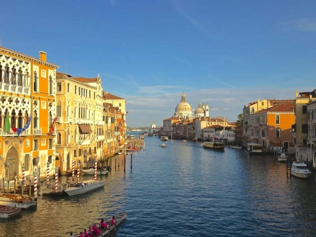 View of the Grand Canal in Venice from the Academia Bridge