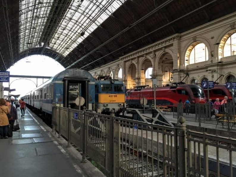 Arrival into Budapest Keleti station