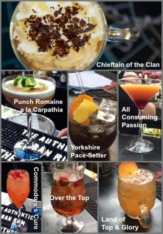 Commodore Club cocktails