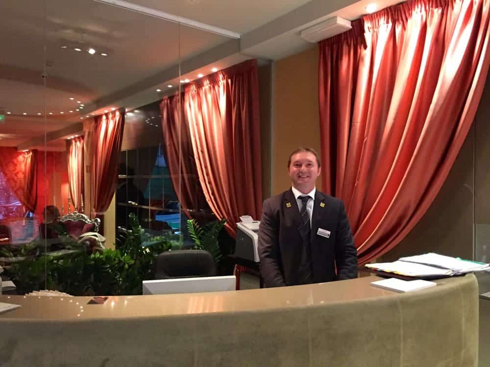 Hotel Fiume Reception Desk