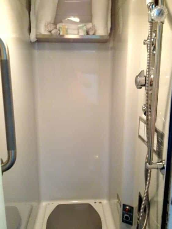 Amtrak superliner bedroom shower