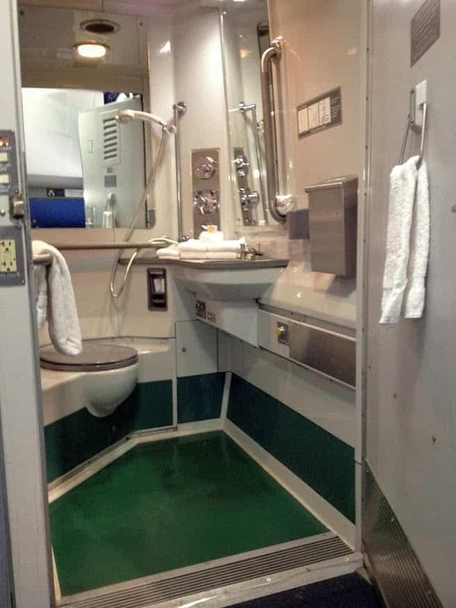 Amtrak accessible bedroom