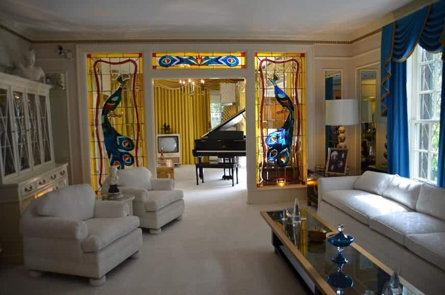 Living room in Graceland in Memphis Tennessee