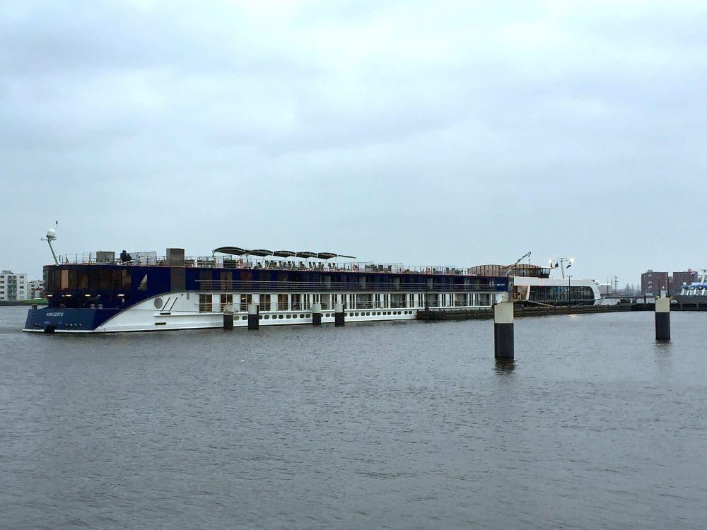 River cruise dock in Amsterdam