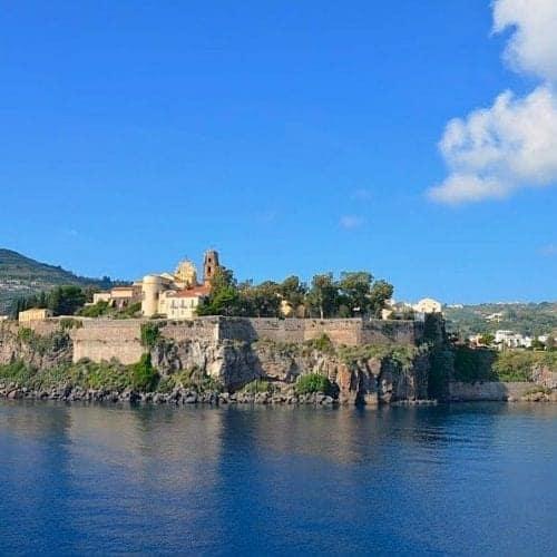 Island of Lipari seen from Royal Clipper