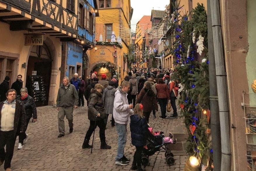Riquewihr Christmas Market street