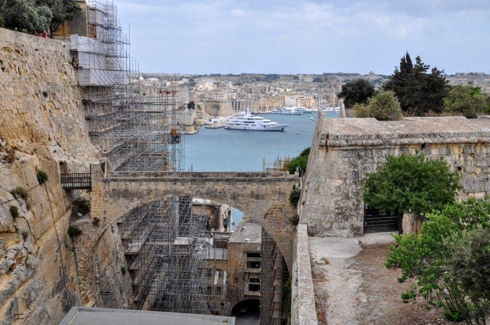 Valletta Malta old walls and fortress