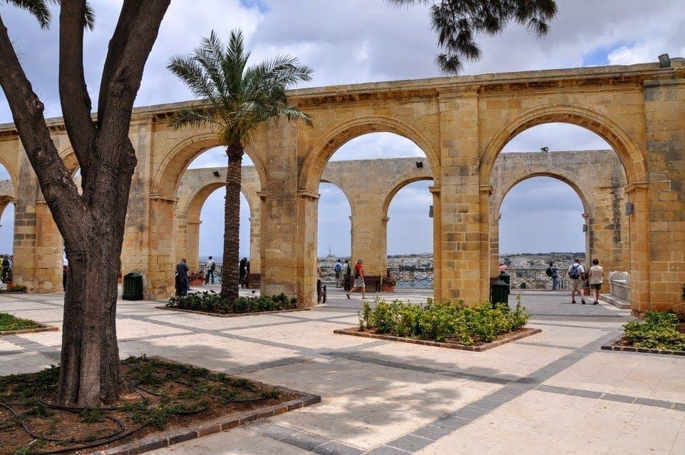 Barrakka gardens Valletta Malta