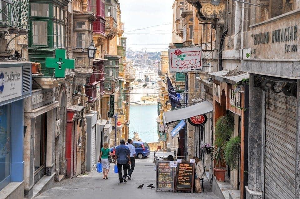 Valletta Malta side street