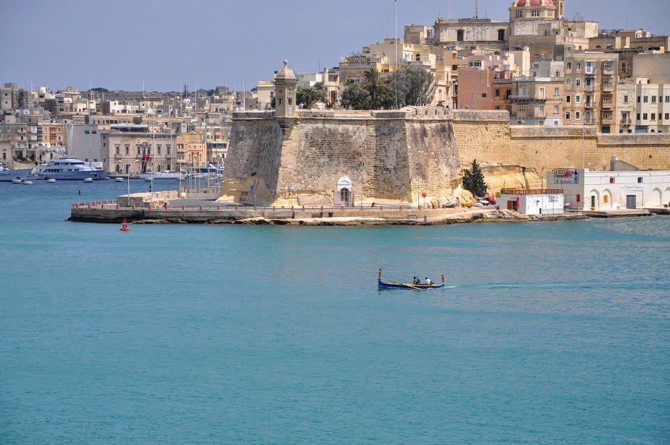 View of the sea in Valletta malta