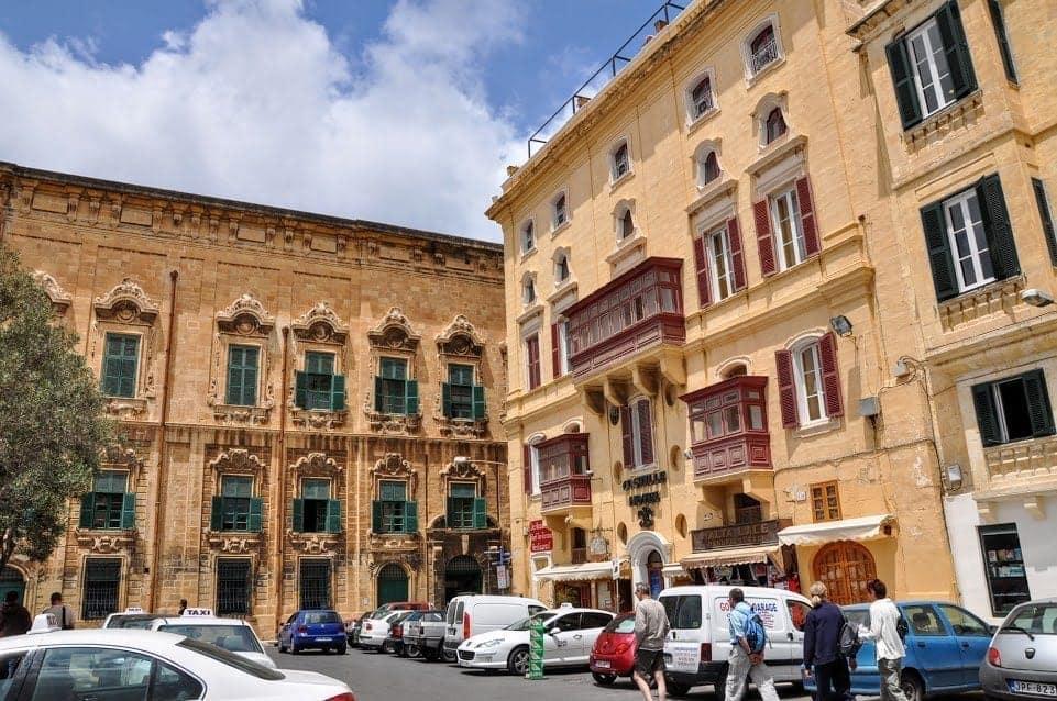 Valletta Malta old town square