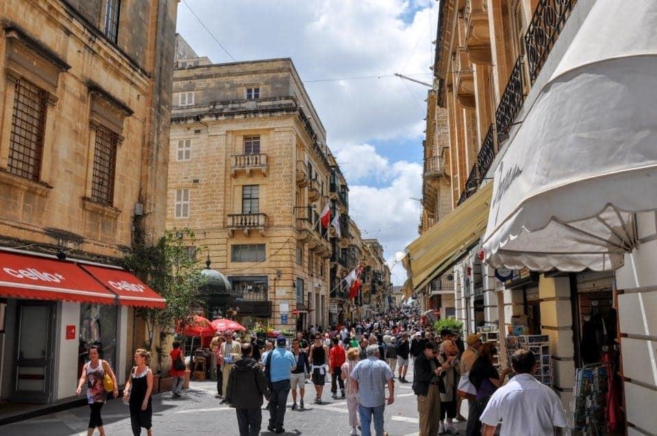 Valletta Malta shopping in Old Town