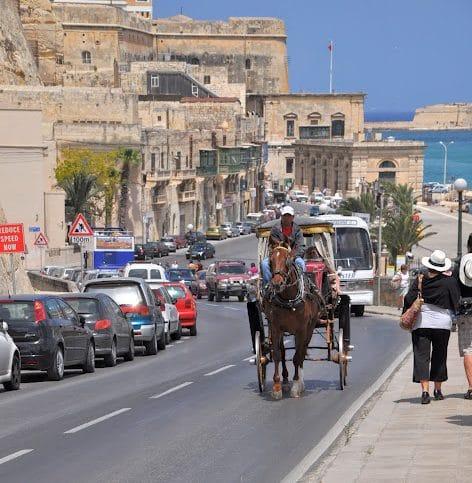 Valletta Malta horse and buggy