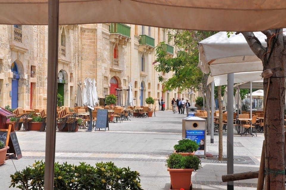 Valletta Malta promenade