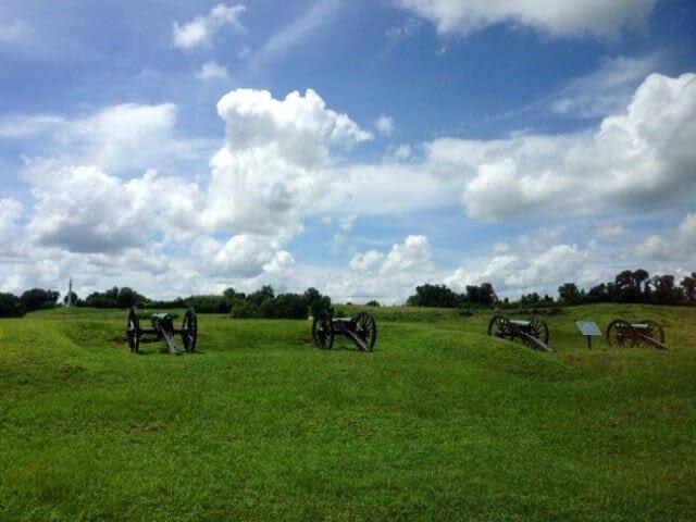 River cruising on the Mississippi near Vicksburg Mississippi Battlefield