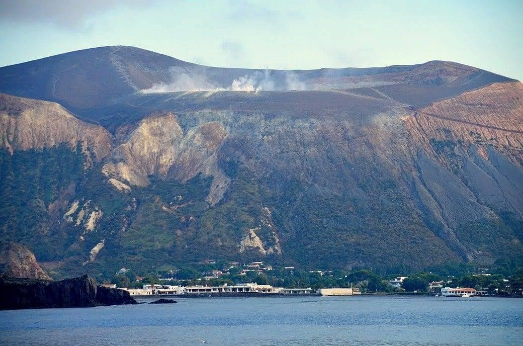 The constant smoldering island of Vulcano.