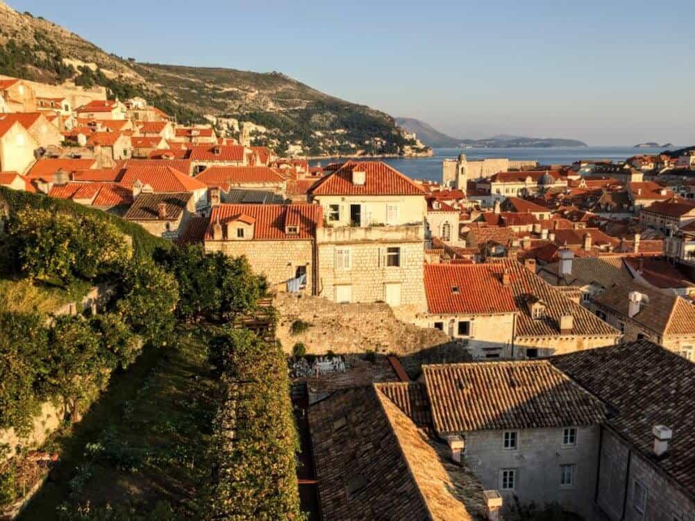 Dubrovnik terra cotta tiled rooftops