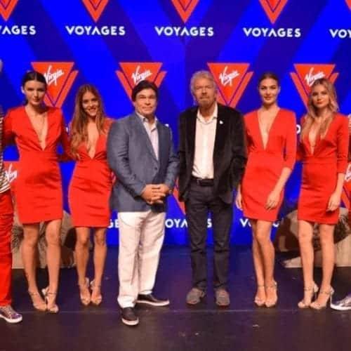 Sir Richard Branson Virgin Voyages Miami event