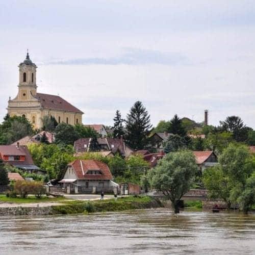 Springtime floods on the Danube River