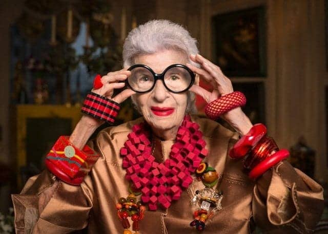 Iris Apfel Cunard Transatlantic Fashion Week