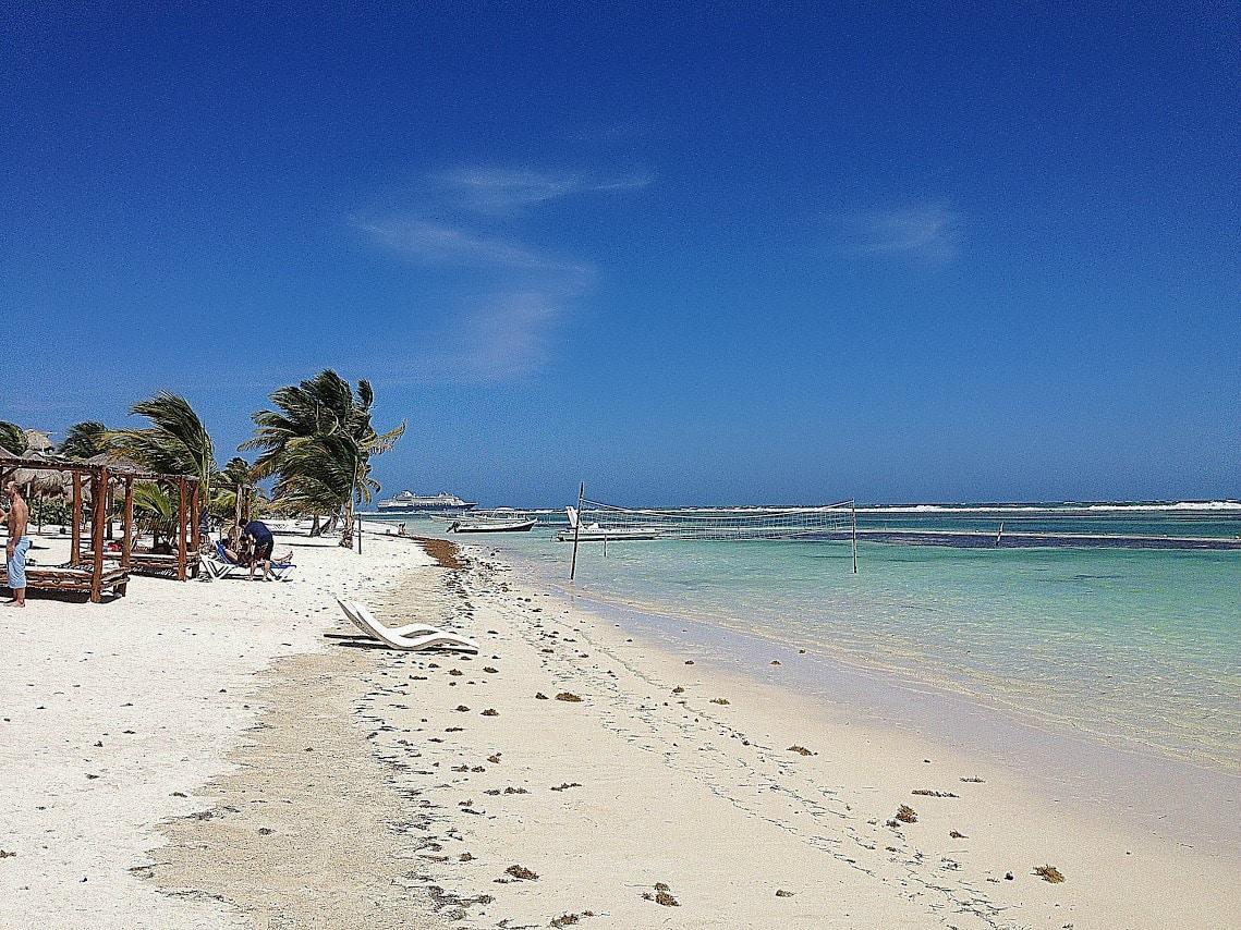 sandy beach at Costa Maya in Mahajual Mexico