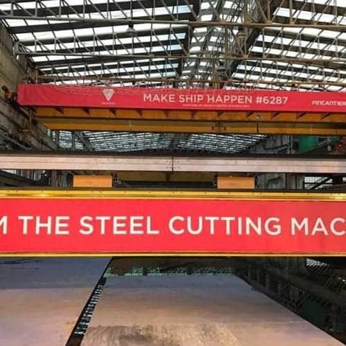 Virgin Voyages Steel Cutting Machine