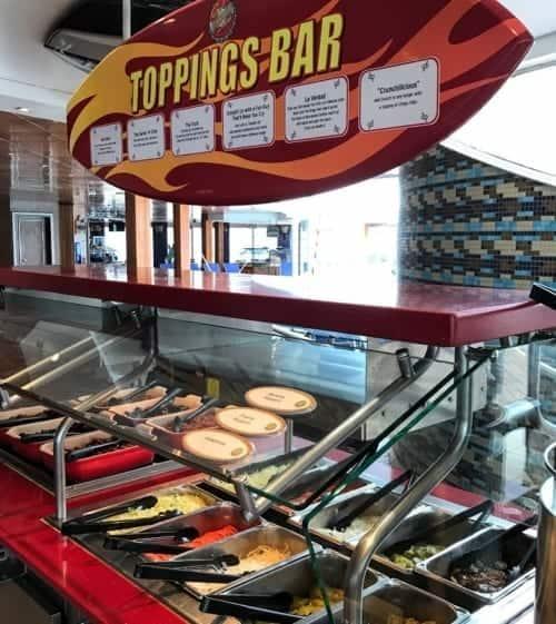 Guys Burger Joint Toppings Bar