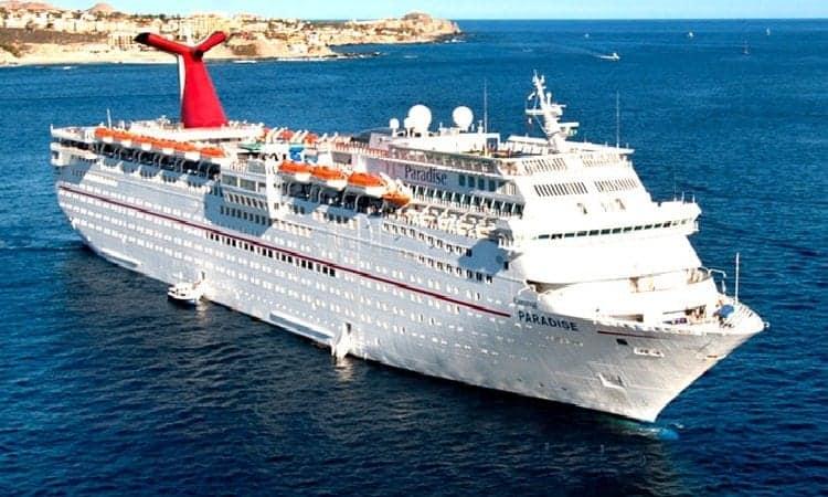 Carnival Paradise cruises to Cuba