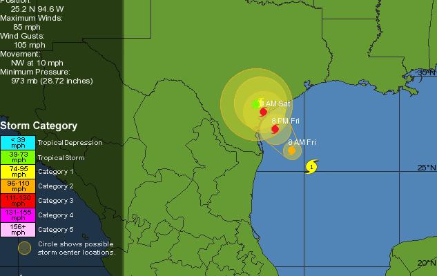 Cruise Maven News: Hurricane Harvey Churns Toward Texas Coast