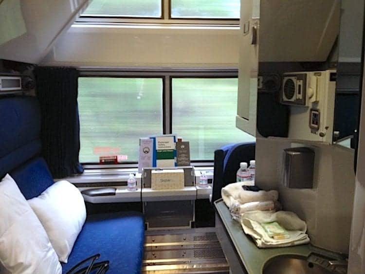 How to pack for an Amtrak overnight trip if you have this deluxe bedroom sleeping accommodation