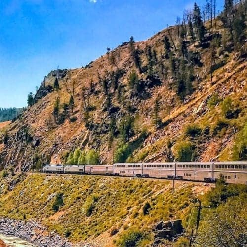 Amtrak Zephyr curve in Colorado