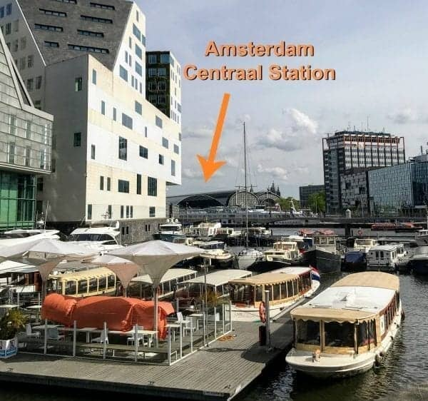 Amsterdam Centraal Station from River Cruise Dock